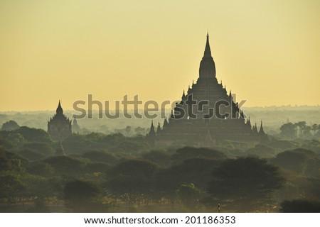 The pagoda of Bagan(Pagan),Myanmar. - stock photo