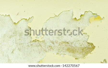 The paint is peeling off - stock photo
