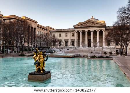 """The Palace of Justice at the place """"Montyon"""" in Marseille in South France - stock photo"""