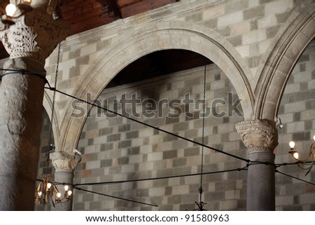 The Palace of the Grand Master of the Knights of Rhodes - stock photo