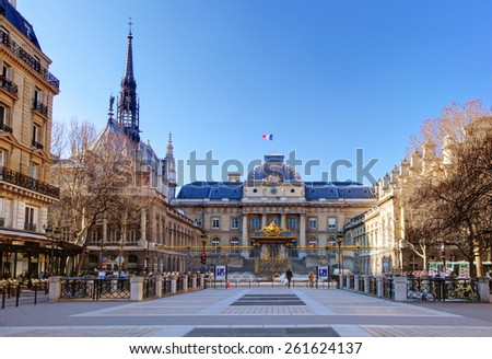 The Palais de Justice (Palace of Justice), Paris. - stock photo