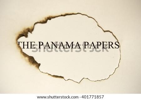 The panama papers revelations - stock photo