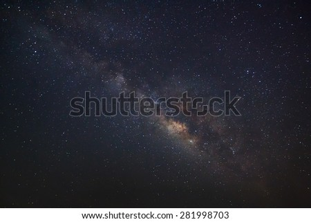 The Panorama Milky Way galaxy, Long exposure photograph - stock photo