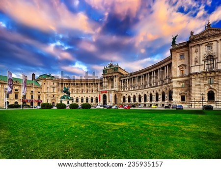 The Panorama Royal Palace in Vienna - stock photo