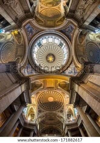 The Pantheon, paris. - stock photo