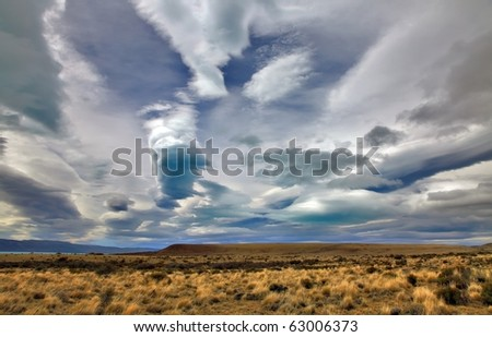 The Patagonia clouds - stock photo