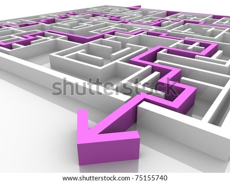 the path laid along the labyrinth - stock photo