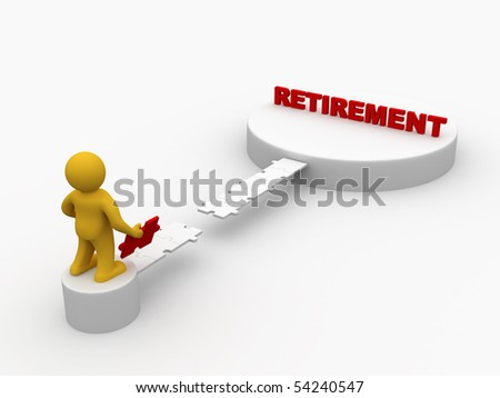 The Path to Retirement - stock photo