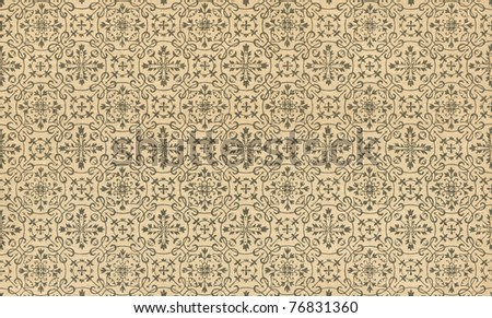 The pattern on antique paper - stock photo