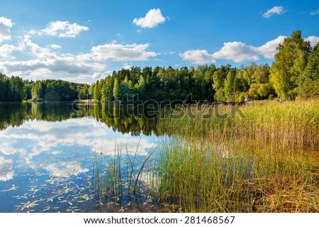The Paunkula Lake. Estonia, Europe - stock photo