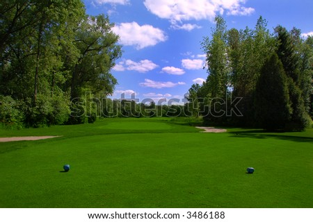 the perfect golf course - stock photo