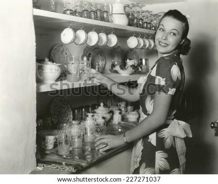The perfect hostess - stock photo