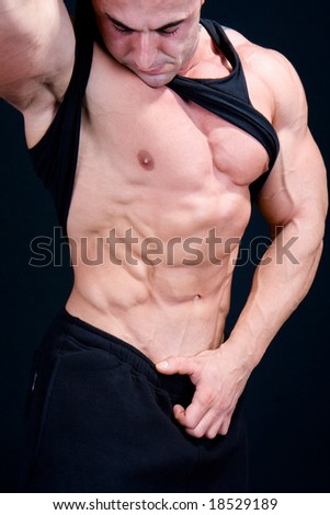 The Perfect Muscular male model - stock photo