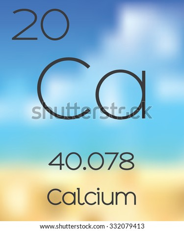 The Periodic Table of the Elements Calcium - stock photo