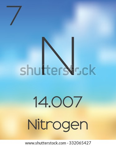 The Periodic Table of the Elements Nitrogen - stock photo