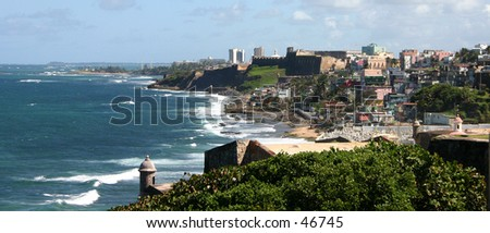 The Perla de San Juan Puerto Rico - stock photo