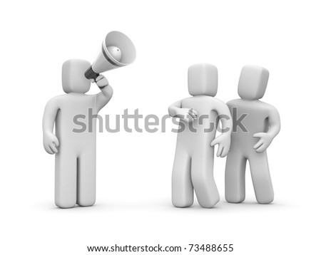 The person draws to attention - stock photo
