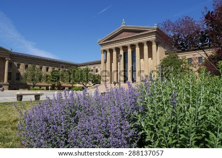 The Philadelphia Museum of Art is a popular attraction in the city. - stock photo