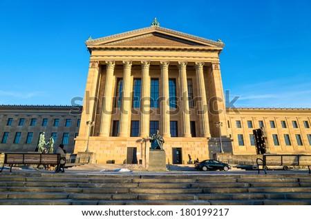 The Philadelphia Pennsylvania Museum of Art - stock photo