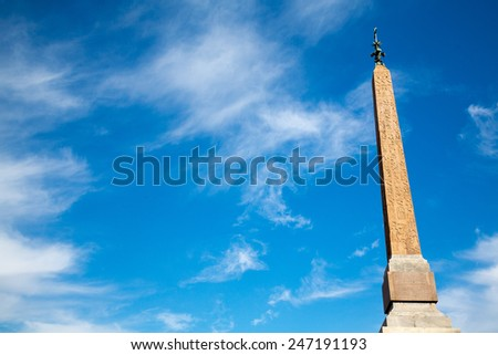 The Piazza del Popolo in Rome, Italy, the middle of Summer - stock photo