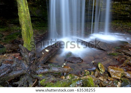 The picturesque Fern Falls located in northern part of Idaho near Pritchard. - stock photo