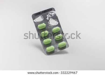 The pill capsules package - stock photo
