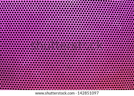 the pink grate background with holes - stock photo