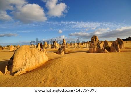 The Pinnacle Desert, Western Australia - stock photo
