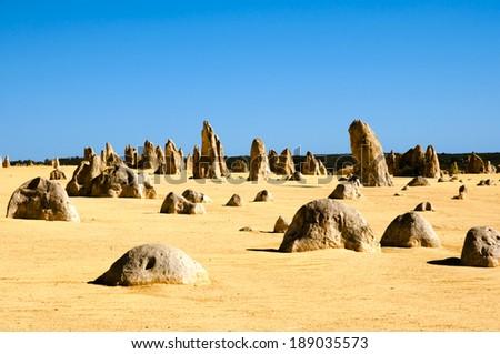 The Pinnacles - Australia  - stock photo