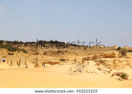 The Pinnacles Desert, Western australia - stock photo