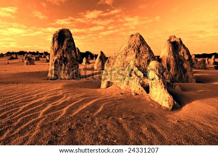 The Pinnacles - Numbung National Park, Western Australia - stock photo