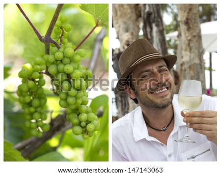 the pleasure of wine - stock photo