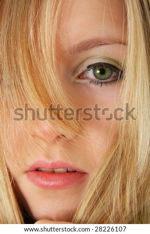 the portrait of the girl - stock photo