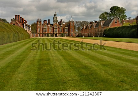 The present Blickling Hall was built in the 17th century on the site of an earlier dwelling where Anne Boleyn, (mother of Elizabeth the first) was born. - stock photo