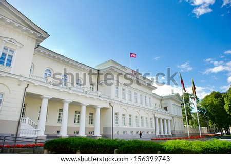 The Presidential Palace in Vilnius, the official residence of the President of Lithuania - stock photo