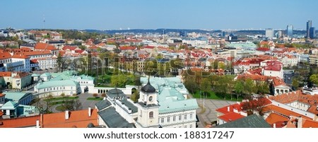 The Presidential Palace in Vilnius, the official residence of the President of Lithuania.  - stock photo