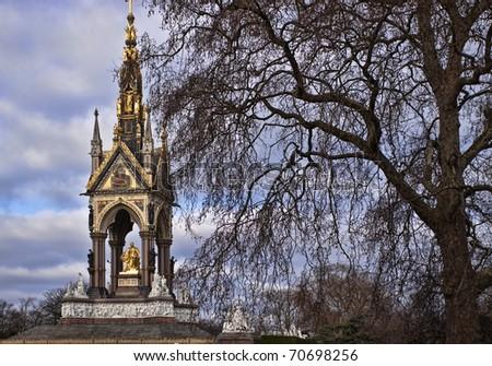 The Prince Albert memorial in Hyde park - stock photo