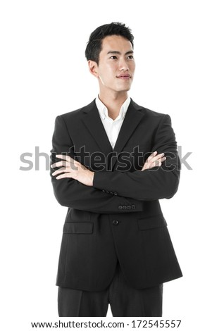 The proud businessman - stock photo