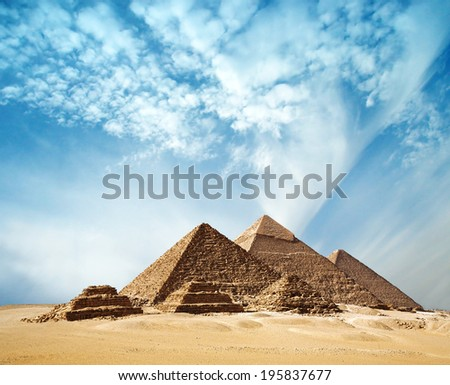 The pyramids in Egypt. - stock photo