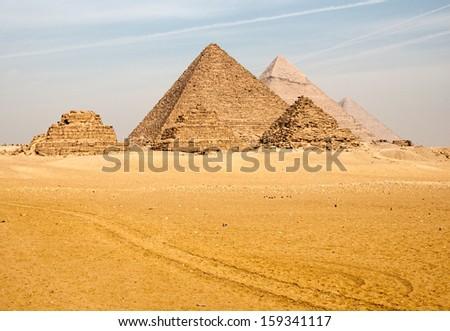 The pyramids of Egypt - stock photo