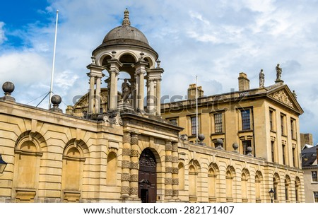 The Queen's College in Oxford, England - stock photo
