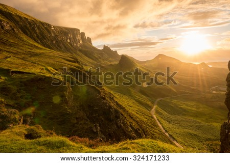The Quiraing, Skye, Scotland - stock photo