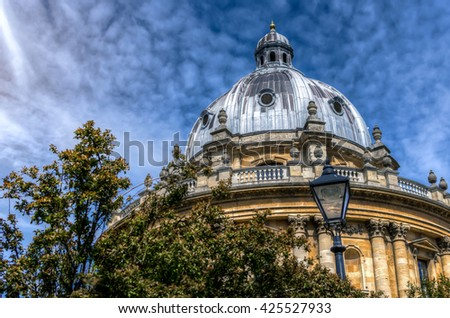 The Radcliffe Camera at Oxford UK. A Palladian-style academic library and reading rooms, designed by James Gibbs. - stock photo
