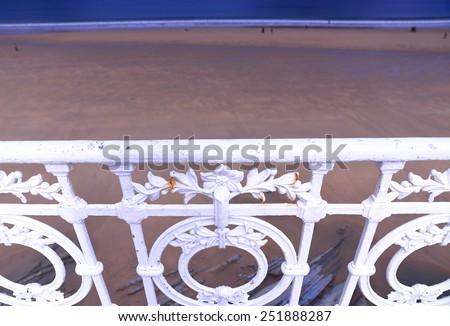 The railing-San Sebastian - stock photo