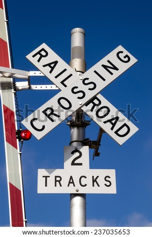 The Railroad Crossing assembly. - stock photo