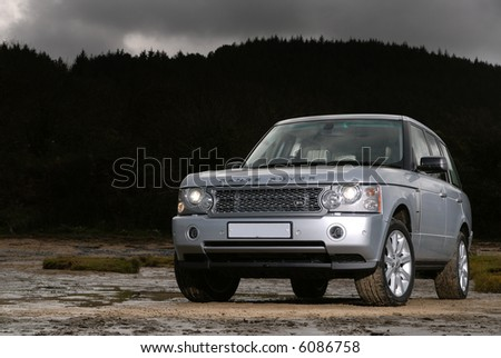 The Range Rover Supercharged V8 Sport - stock photo