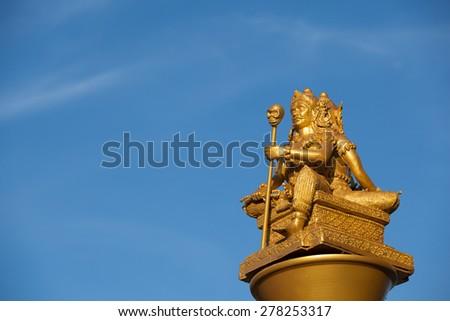 The reaper statue in asia - stock photo