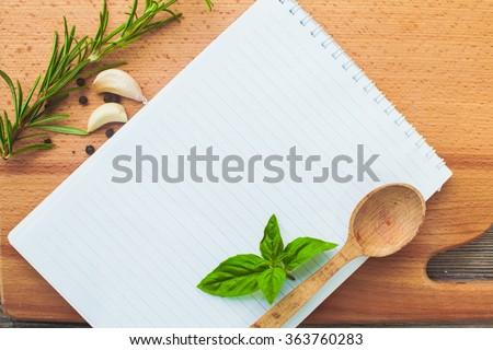 The recipe concept - stock photo