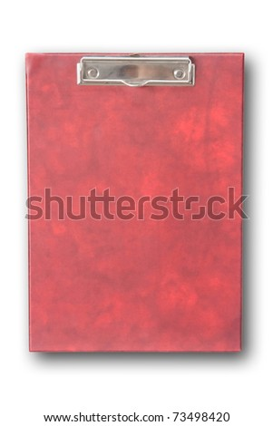 The red clipboard - stock photo