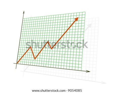 The red 3d diagram showing high achievements - stock photo